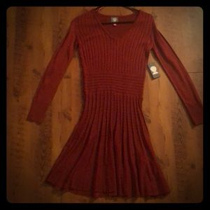 Vince Camuto Red Sweater Dress